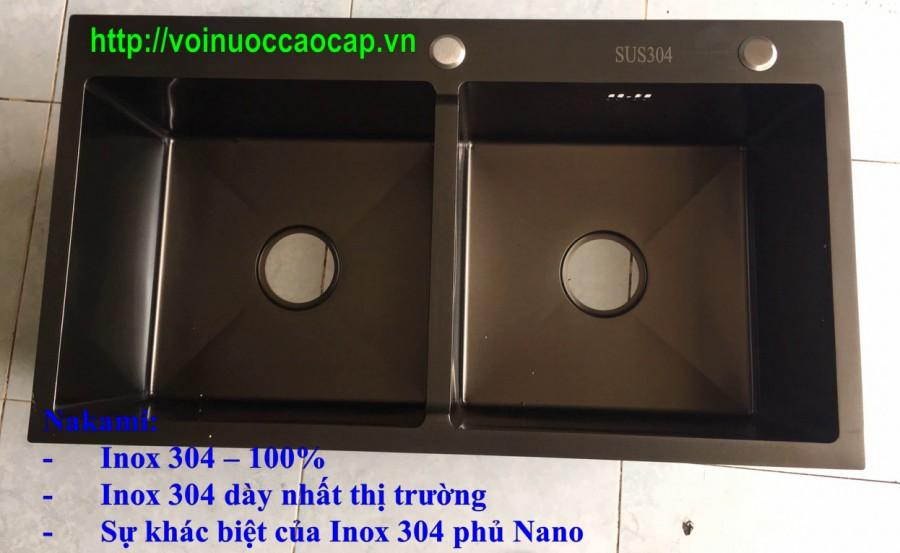 Chậu Rửa Chén Inox 304 Đúc Phủ Nano Nakami NAC-1009