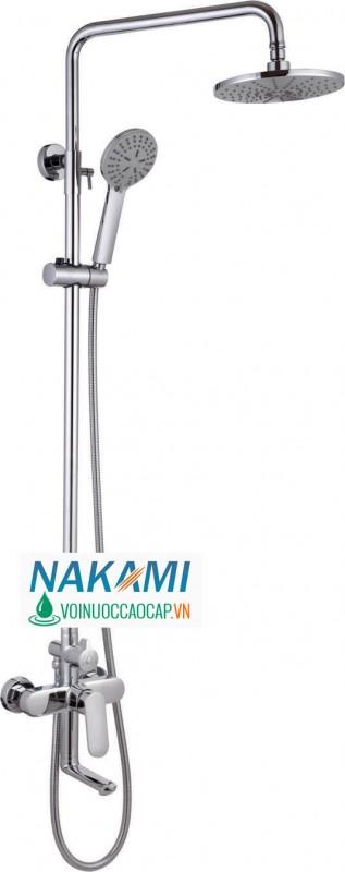 Bộ Sen Cây Nóng Lạnh Đồng Thau Cao cấp Nakami NAS-2007