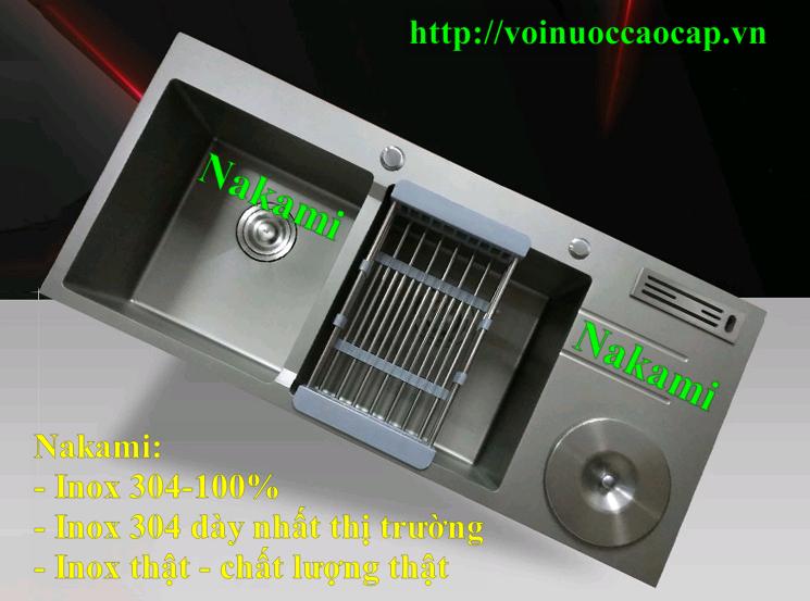 Chậu Rửa Chén Inox 304 Đúc Phủ NanoNakami NAC-1011