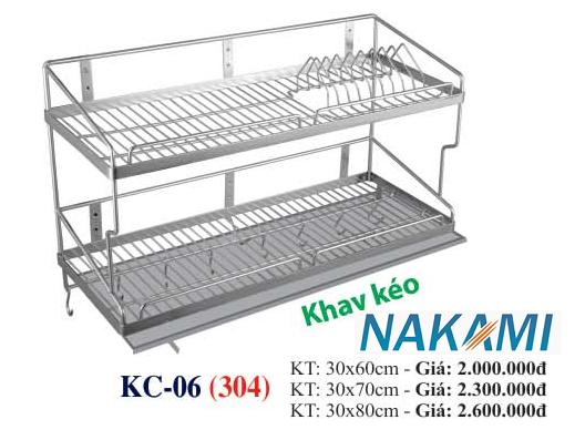 KỆ CHÉN BÁT INOX 304 ĐA NĂNG - 2 TẦNG CAO CẤP NAKAMI KC-06
