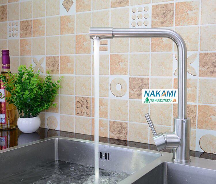 Vòi rửa chén Inox 304 cao cấp Nakami VC-6008