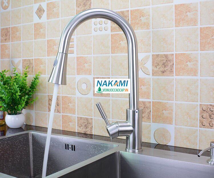 Vòi rửa chén Inox 304 cao cấp Nakami VC-6002
