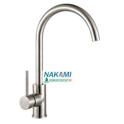 Vòi rửa chén Inox 304 đúc cao cấp Nakami VC-6007