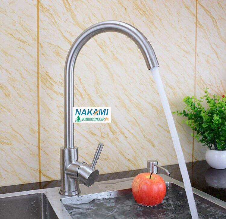 Vòi rửa chén Inox 304 cao cấp Nakami VC-6007