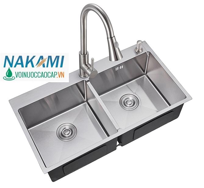 Chậu Rửa Chén Đúc Inox 304 Nakami NAC-1002