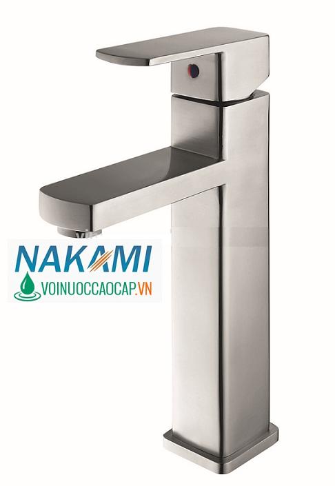 Vòi Lavabo Nóng Lạnh Inox 304 Cao Cấp Nakami NAV-4002
