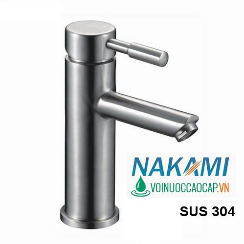 Vòi Lavabo Nóng Lạnh Inox 304 cao cấp Nakami NAV-4003