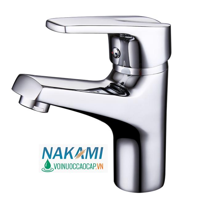 Vòi Lavabo Nóng Lạnh Đồng Thau Nakami NAV-5002