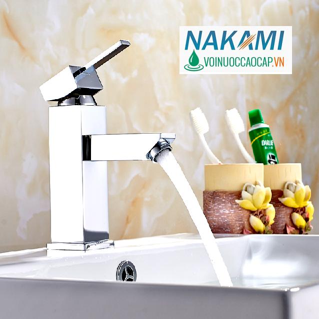 Vòi Lavabo Nóng Lạnh Đồng Thau Nakami NAV-5001