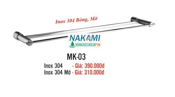MÁNG KHĂN ĐÔI INOX 304 CAO CẤP NAKAMI MK-03