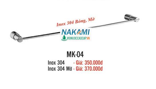 MÁNG KHĂN ĐƠN INOX 304 CAO CẤP NAKAMI MK-04