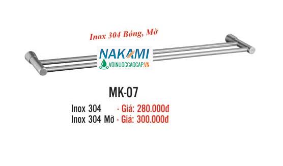 MÁNG KHĂN ĐÔI INOX 304 CAO CẤP NAKAMI MK-07