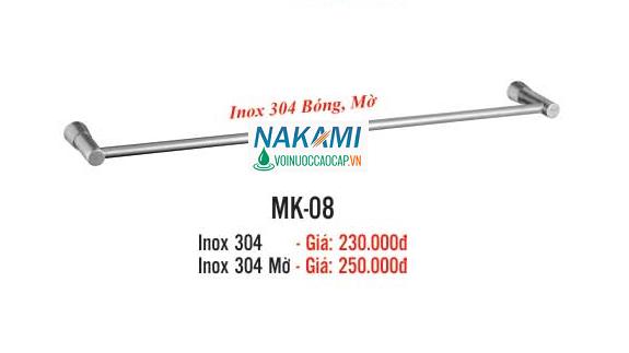 MÁNG KHĂN ĐƠN INOX 304 CAO CẤP NAKAMI MK-08