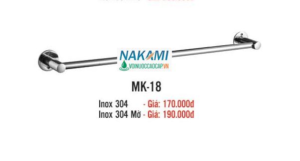 MÁNG KHĂN ĐƠN INOX 304 CAO CẤP NAKAMI MK-18