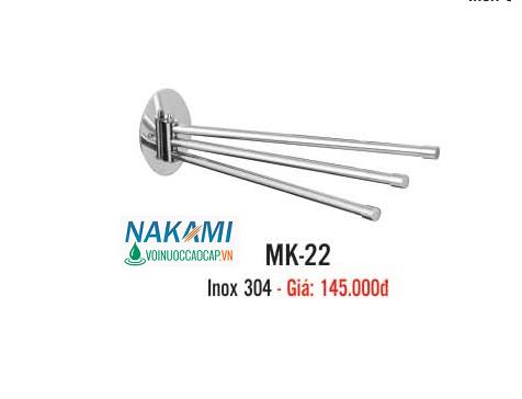 MÁNG KHĂN INOX 304 CAO CẤP NAKAMI MK-22