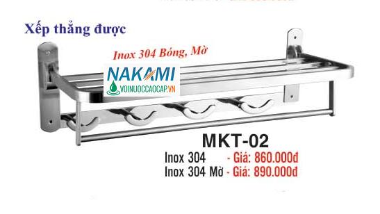 MÁNG KHĂN INOX 304 - 2 TẦNG ĐA NĂNG CAO CẤP NAKAMI MKT-02