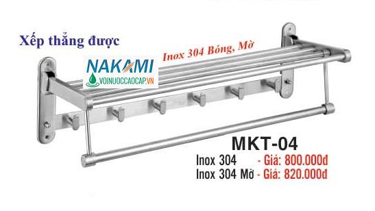 MÁNG KHĂN INOX 304 - 2 TẦNG ĐA NĂNG CAO CẤP NAKAMI MKT-04