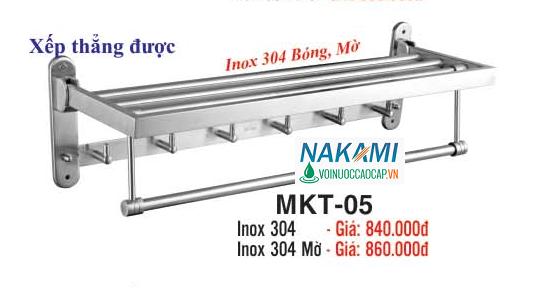 MÁNG KHĂN INOX 304 - 2 TẦNG ĐA NĂNG CAO CẤP NAKAMI MKT-05