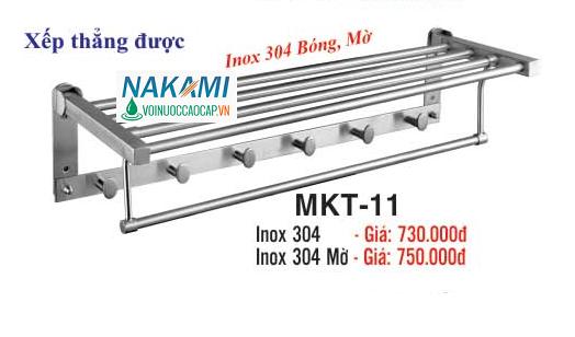 MÁNG KHĂN INOX 304 - 2 TẦNG ĐA NĂNG CAO CẤP NAKAMI MKT-11