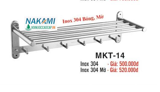 MÁNG KHĂN INOX 304 - 2 TẦNG ĐA NĂNG CAO CẤP NAKAMI MKT-14