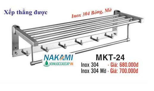 MÁNG KHĂN 2 TẦNG ĐA NĂNG INOX SUS 304 CAO CẤP NAKAMI MKT-24