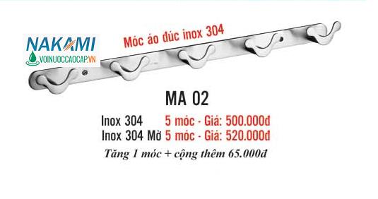 MÓC ÁO INOX 304 CAO CẤP NAKAMI MA-02