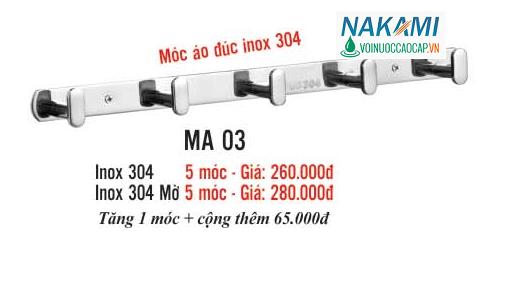 MÓC ÁO INOX 304 CAO CẤP NAKAMI MA-03