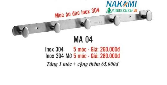MÓC ÁO INOX 304 CAO CẤP NAKAMI MA-04