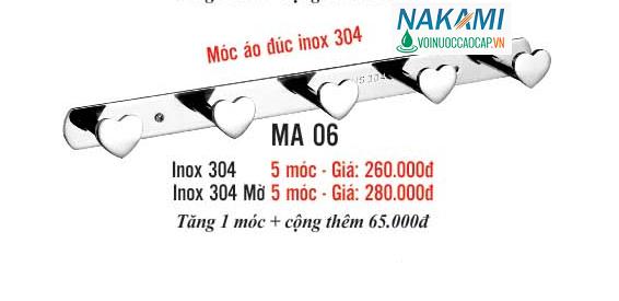 MÓC ÁO INOX 304 CAO CẤP NAKAMI MA-06