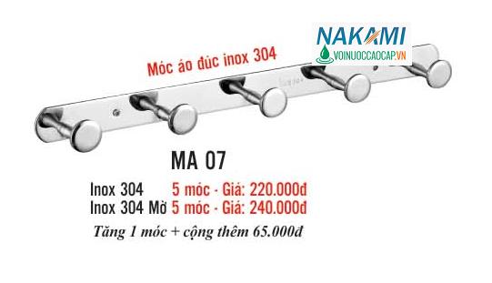 MÓC ÁO INOX 304 CAO CẤP NAKAMI MA-07