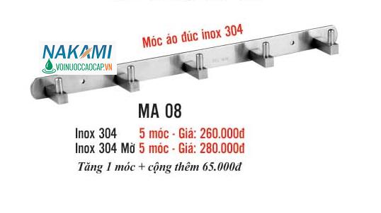 MÓC ÁO INOX 304 CAO CẤP NAKAMI MA-08