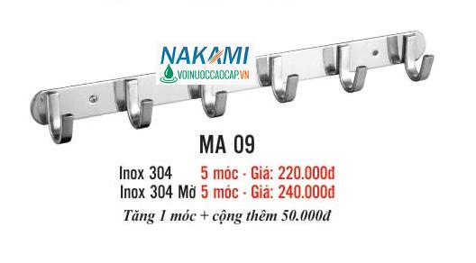 MÓC ÁO INOX 304 CAO CẤP NAKAMI MA-09