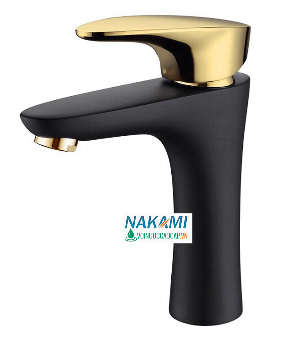 Vòi Lavabo Nóng Lạnh Đồng Thau  Cao Cấp Nakami NAV-5007
