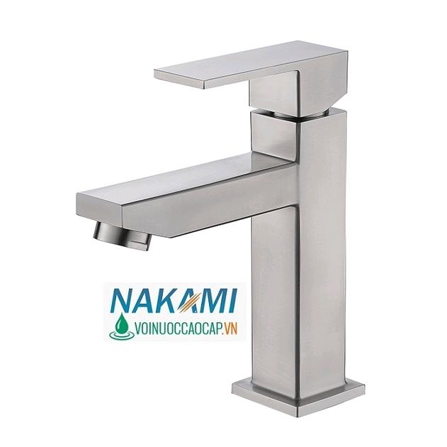 Vòi Lavabo Nóng Lạnh Inox 304 Cao Cấp Nakami NAV-4001