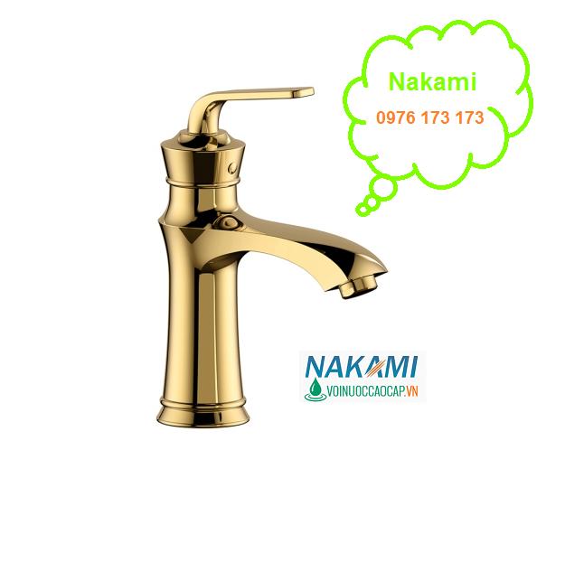 Vòi Lavabo Nóng LạnhCao Cấp Nakami NAV-002A-20cm