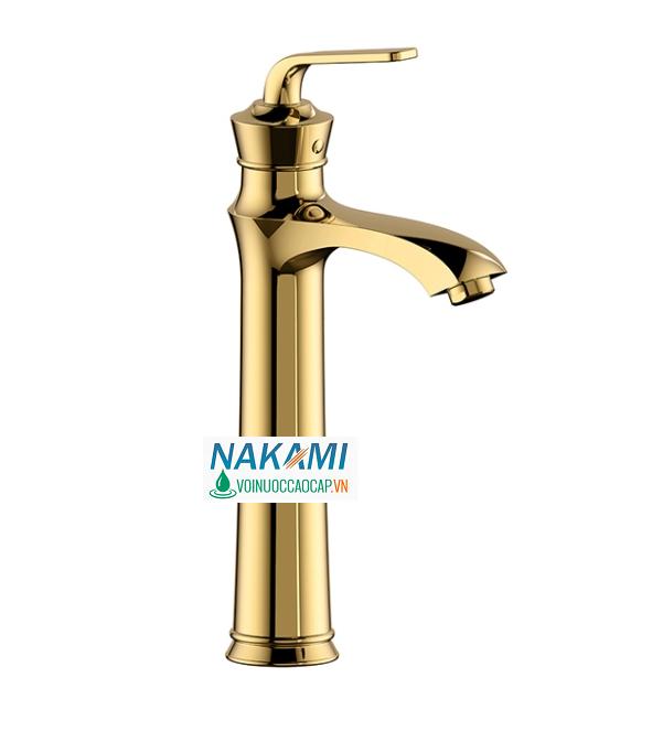 Vòi Lavabo Nóng LạnhCao Cấp Nakami NAV-002B-30cm