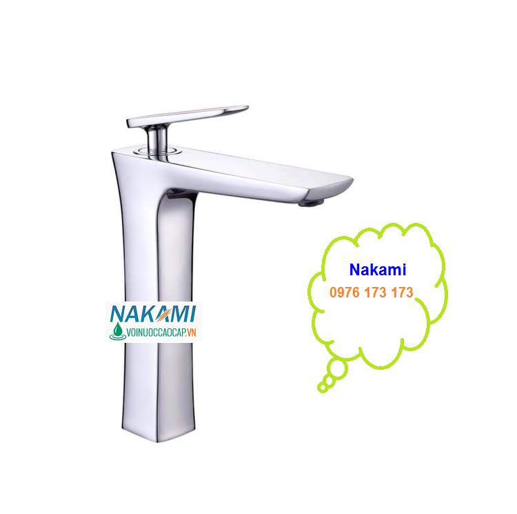 Vòi Lavabo Nóng LạnhCao Cấp Nakami NAV-011B-30cm