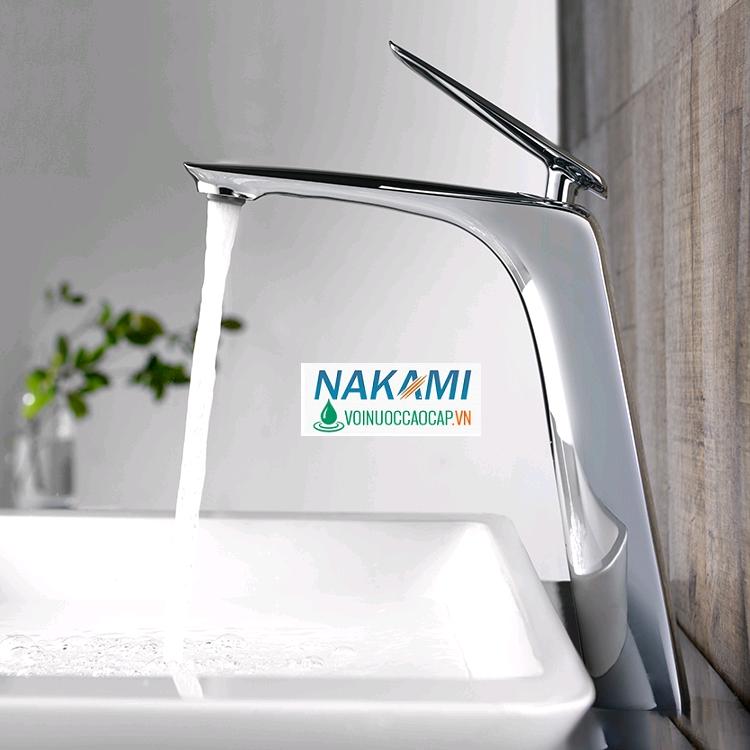 Vòi Lavabo Nóng Lạnh Cao Cấp Nakami CC-02 (30cm)