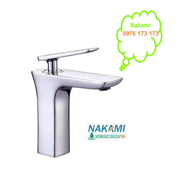 Vòi Lavabo Nóng LạnhCao Cấp Nakami NAV-011A-20cm